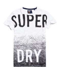 Superdry Scratched Out Long Line T-shirt