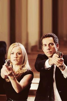 Chuck and Sarah. I wish they wouldn't have messed this show up by putting the intersect in Morgan. :(