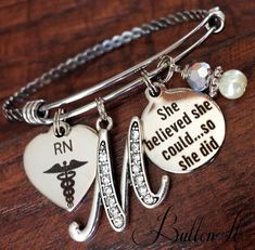 Nurse graduation gift, Physician's Assistant gift, She BELIEVED she could so she did, Nurse Graduate, PHARMACIST, Class of 2016 gift