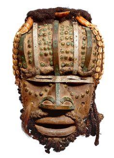 Africa | A Grebo mask, Ivory Coast/Liberia