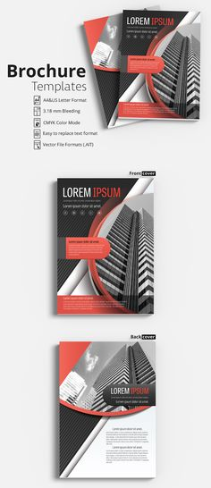 Brochure Cover Layout with Yellow and Gray Accents 1 - image | Adobe ...