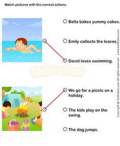 Action Verbs Worksheets 4 - esl-efl Worksheets - kindergarten Worksheets