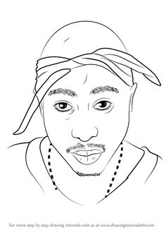 Xxxtentacion Kleurplaat Tupac Tupac Art Drawing Art Art Drawings Drawings