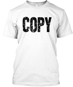 Copy Paste Ctrl + C Father's Day T Shirt White T-Shirt Front