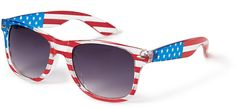You can NEVER have too many pairs of sunglasses! http://www.leatherlaceandturquoise.com/ FOREVER 21 American Flag Wayfarer Sunglasses • Forever 21 • $3.48
