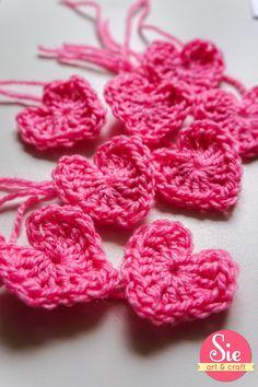corazones en crochet! lovely ❤