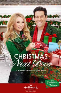 Its a Wonderful Movie - Your Guide to Family and Christmas Movies on TV: Christmas Next Door - a Hallmark Channel Original Countdown to Christmas Movie starring Jesse Metcalfe & Fiona Gubelmann! Hallmark Channel, Películas Hallmark, Films Hallmark, Hallmark Holiday Movies, Family Christmas Movies, Hallmark Holidays, Family Movies, Christmas Poster, John Tucker