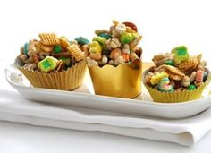 Pot of Gold Chex Mix -- site links back to a huge list of unique Chex mix recipes.