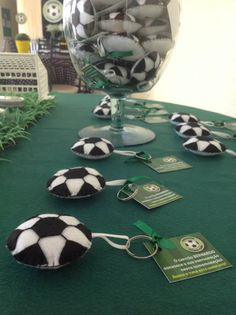 Lembrancinhas Chá de Fraldas - tema futebol