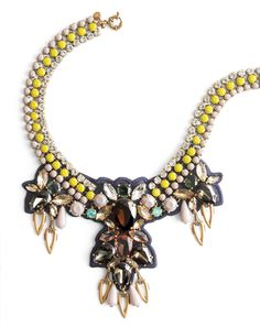 Yellow Infused Statement Necklace