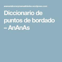 Diccionario de puntos de bordado – AnAnAs