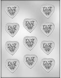 Lacey Heart With Love Chocolate Candy Molds Valentines Day Wedding Reception Bridal Shower 90 1006
