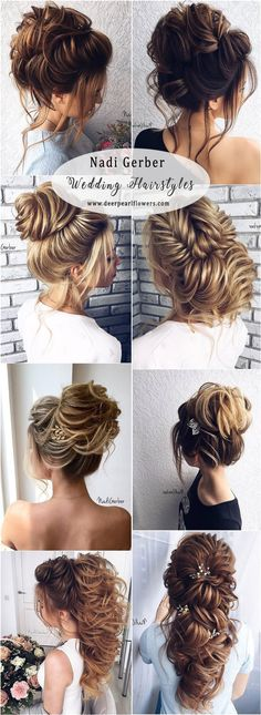 Nadi Gerber Long Bridal Hairstyles Updos for Wedding