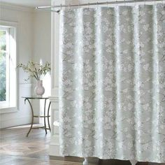 J Queen New YorkTM Mika Shower Curtain In Sea Foam Featurescontemporary
