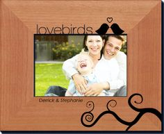 Imagine opening a Valentine gift to find a favorite photo presented in a personalized frame that truly captures the magic of your relationship; a lasting, and visual reminder of the love you share.   Our laser-engraved, solid alder-wood frames have a lovely satin finish and are available in several sizes with both horizontal and vertical orientation to accommodate your favorite photo.
