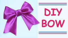 DIY Make Simple Easy Bow of satin ribbons   how to make a ribbon bow   J...
