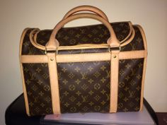 Authentic Louis Vuitton Dog Carrier   Bolonka worthy and i plan to have a treasure in one of these!