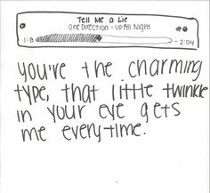 Tell Me A Lie-One Direction