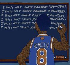 Still shoots random 3s lol - http://weheartnyknicks.com/nba-funny-meme/still-shoots-random-3s-lol