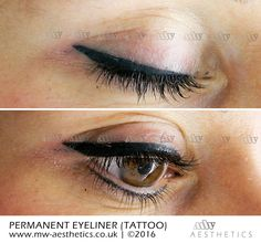 permanent eyeliner (tattoo) picture taken straight after the procedure Semi Permanent Eyeliner, Permanent Makeup, Makeup Blog, Makeup Tips, Hair Makeup, Different Eyeliner Styles, Eyeliner Techniques, Single Needle Tattoo, Daily Makeup Routine