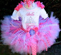 Sparkly Rhinestone Birthday Princess Petti Tutu by PoshPinkTutus
