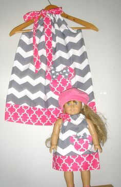 comes with matching doll dress to fit 18 American girl doll or other 18 doll CAN ALSO DO BITY BABY , just tell me the doll size on the etsy listing
