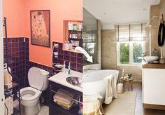 Antes y después de una reforma que unió cocina y salón Bathtub, Inspiration, Cricut Projects, House, Deco, Bathroom