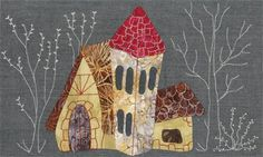 El próximo jueves 21 de febero en horario de 4... House Quilt Block, House Quilts, Quilt Blocks, Colorful Quilts, Small Quilts, Applique Templates, Felt Christmas Ornaments, Sewing Appliques, Applique Quilts