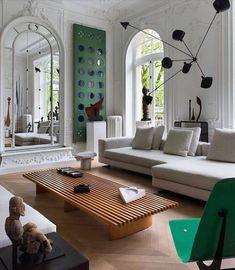 Living Room Inspiration, Interior Design Inspiration, Interior Design Magazine, Interior Design Living Room, Living Room Decor, Modern Interior, Color Interior, Interior Plants, Contemporary Interior Design