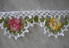 OFICINA DO BARRADO: CROCHE - Um simples barrado Florido ... Crochet Curtains, Crochet Quilt, Crochet Blocks, Love Crochet, Thread Crochet, Crochet Trim, Crochet Motif, Diy Crochet, Crochet Crafts