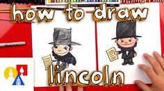 How To Draw A Cartoon Abraham Lincoln Jfk And Abraham Lincoln, Abraham Lincoln Costume, Art For Kids Hub, Art Hub, Happy Presidents Day, Kids Collection, Sand Crafts, Drawing For Kids, Preschool Crafts