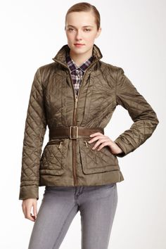Quilted Lightweight Belted Jacket