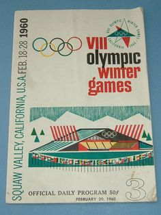 1960 VIII Olympic Winter Games Official daily Program Squaw Valley California USA.