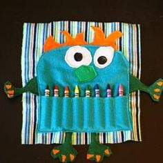 If you can sew this monster craft bag would be a hit fir the kiddies or as a gift