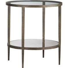 Clairemont Side Table (Crate and Barrel) - Possible nightstand for master? Sofa Side Table, Round Side Table, End Tables, A Table, Occasional Tables, Bedside Tables, Nightstand, Coffee Table Crate And Barrel, Oval Coffee Tables