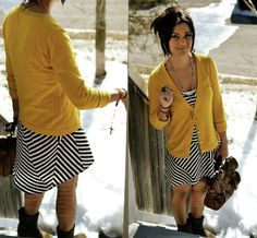stripes & Mustard sweater