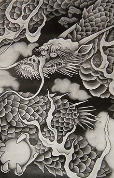 Close-up of above Kenchō-ji Temple ceiling painting.  Founded in 1251, this temple was the chief monastery for the five great Zen monasteries that thrived in the  Kamakura era (1185-1333)