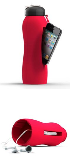 Beats Travel Bottle Holds a refreshing beverage and an iPhone with a secure silicone design! #workingout #exercise #yoga