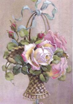 Beautiful basket of roses