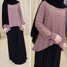Change the hijab into more syari Niqab Fashion, Muslim Fashion, Modest Fashion, Fashion Dresses, Woman Fashion, Moslem, Hijab Style Dress, Mode Abaya, Abaya Designs