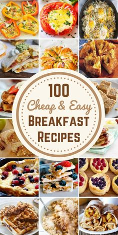 These easy, cheap and delicious breakfast recipes will help you start the day off right without breaking the bank. These recipes are also perfect for breakfast for dinner too. Pancakes, Waffles, French Toast and Crepes Cheap Healthy Breakfast, Delicious Breakfast Recipes, Breakfast For Dinner, Breakfast Dishes, Brunch Recipes, Breakfast Casserole, Breakfast On A Budget, Dinner Healthy, Fast Breakfast Ideas