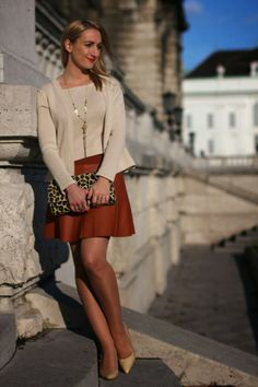 Shop Women's Forever 21 Orange size XS Mini at a discounted price at Poshmark. Skater Skirt, Dress Skirt, Brown Leather Skirt, Fashion Tips, Fashion Design, Fashion Trends, Forever 21, Rust, Orange
