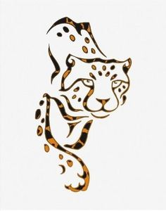Creeping leopard tattoo design for henna