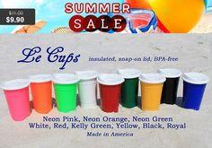 SALE - LeCups 16oz Plastic Double Walled Tumbler, 9 colors, lid, Spiker Brand, choose design & Glitter/Non Glitter Vinyl, name, monogram,...