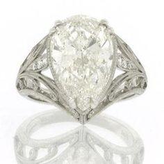 5.57ct Pear Shape Diamond Engagement Anniversary Ring
