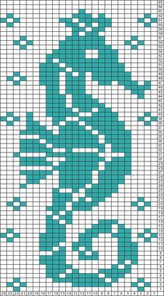 Gráficos Tricksy Knitter: Seahorse por Amy