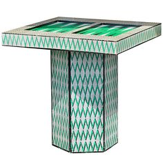 Chic Lacquered Backgammon Table | From a unique collection of antique and modern game tables at http://www.1stdibs.com/furniture/tables/game-tables/