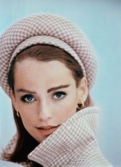 1964  Model in a pink houndstooth beret.  Image by © Condé Nast Archive/Corbis