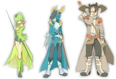 Humanized Legendary Pokemon Virizion, Cobalion, and Terrakion | They look really cool!