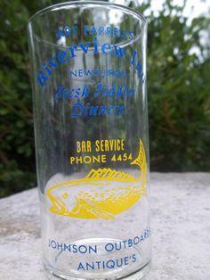 Vintage Restaurant Advertising Glass by TheHoneysuckleTree on Etsy, $7.00